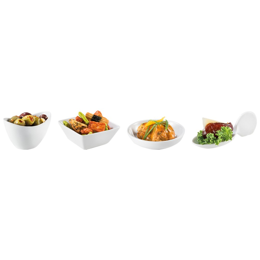 Ambrosia Zest Porcelain Serving Dish White - Assorted Design Dispatch