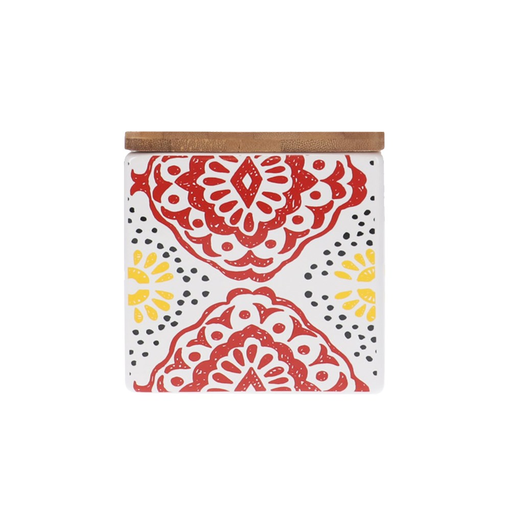 Ambrosia Aya II Square 10cm Canister Red