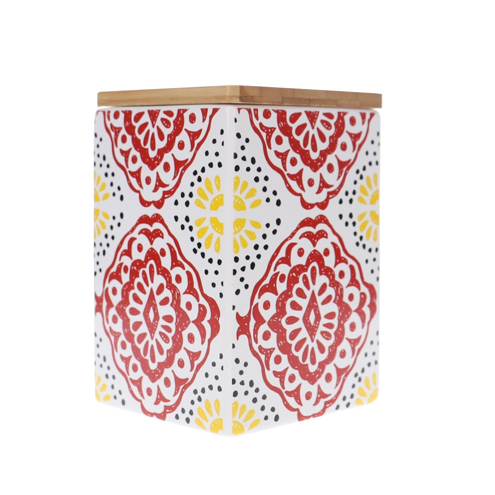 Ambrosia Aya II Square 15cm Canister Red