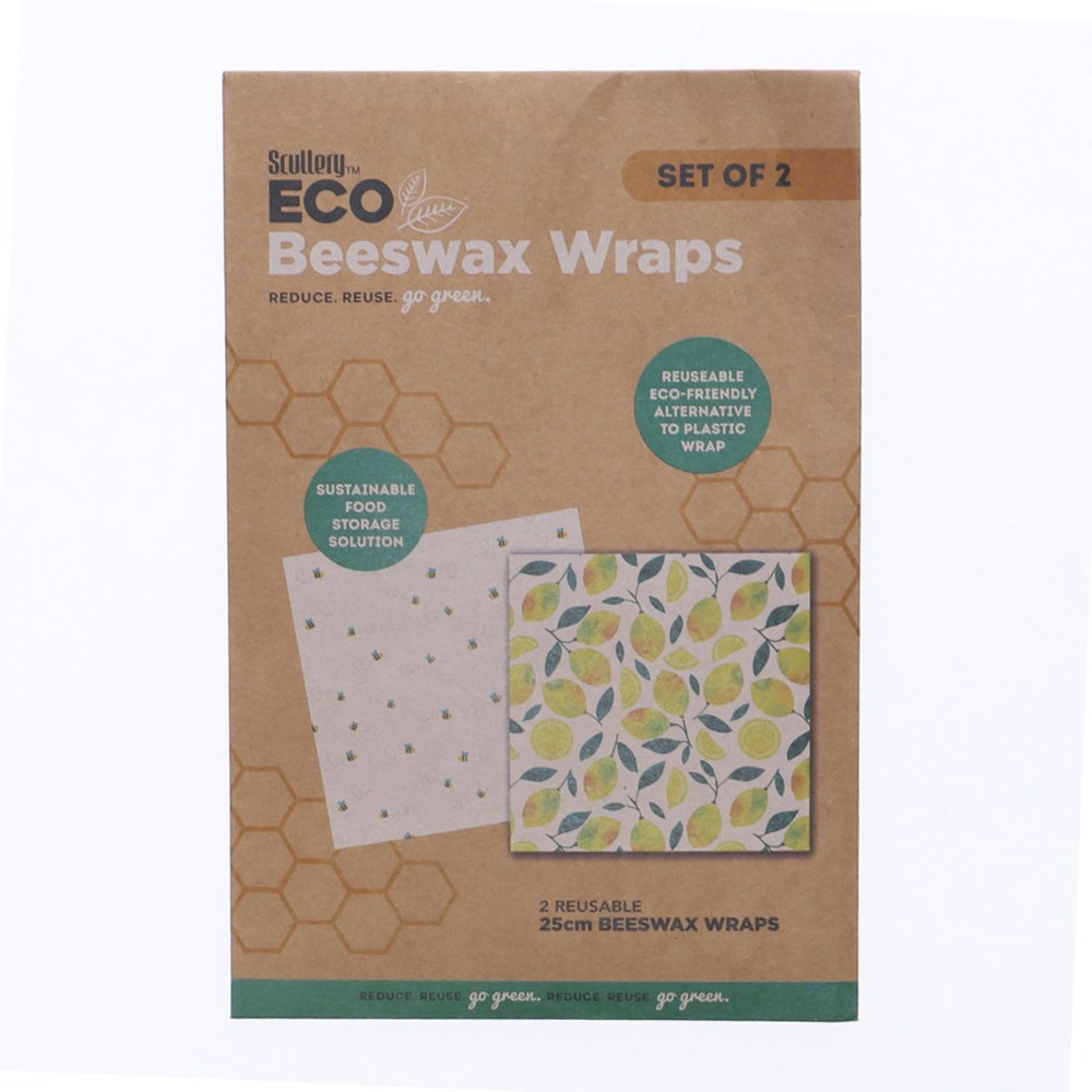 Scullery Eco Set of 2 Beeswax Food Wraps