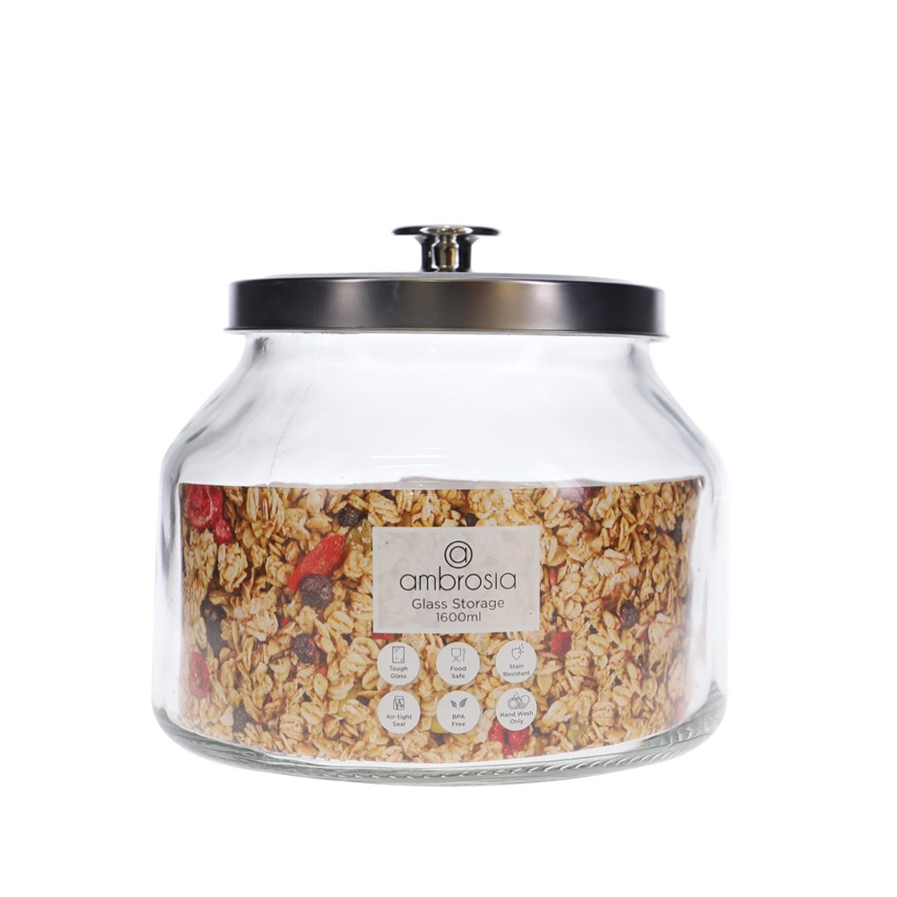 Ambrosia Glass Storage Canister 1.6L