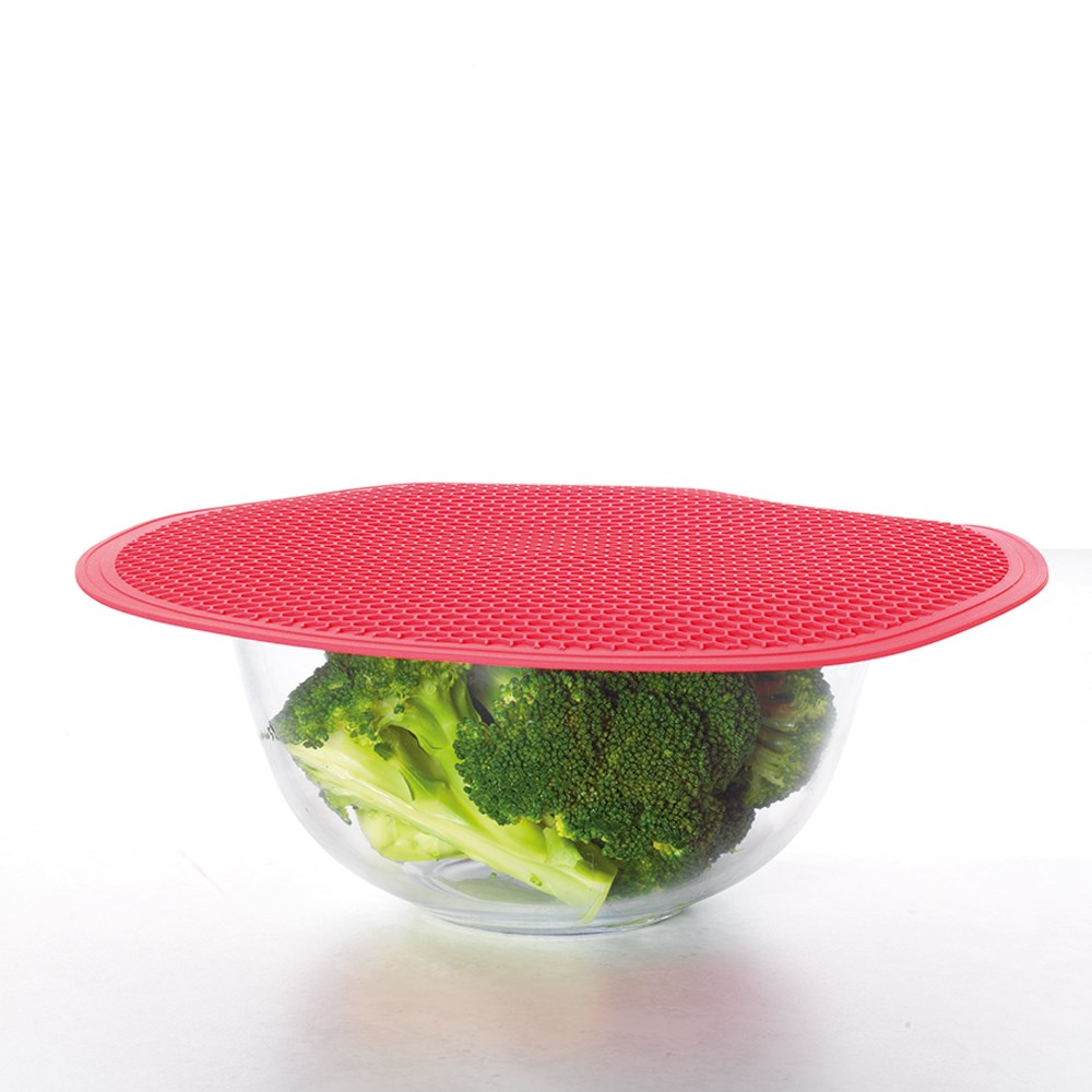 Scullery Kolori Silicone Microwave Mat Red