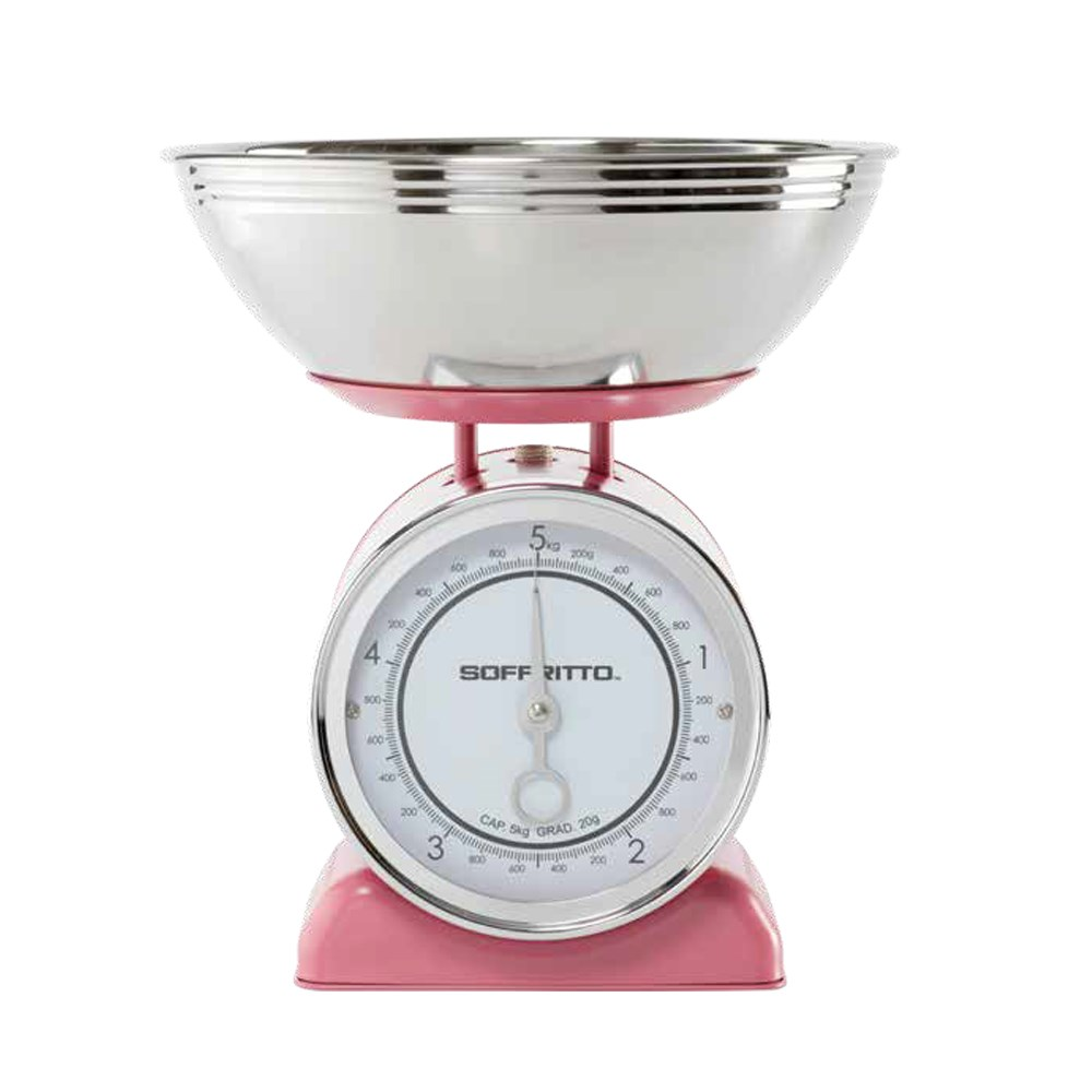 Soffritto Mechanical 5kg Kitchen Scale Pink