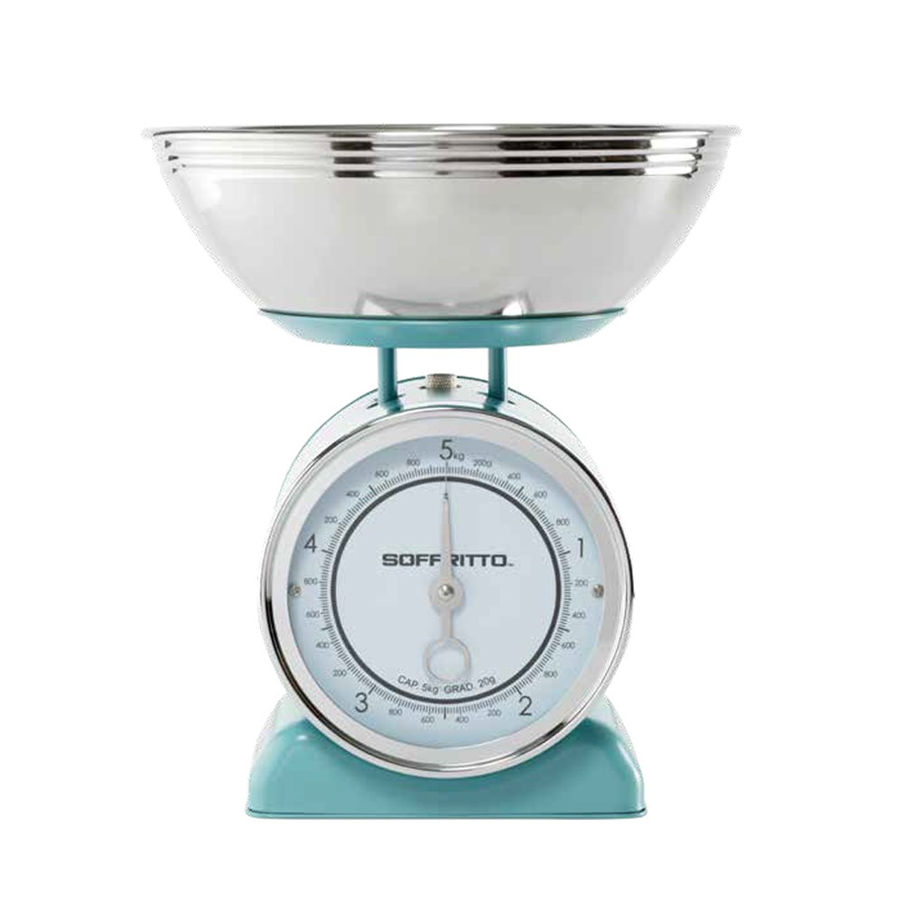 Soffritto Mechanical 5kg Kitchen Scale Teal