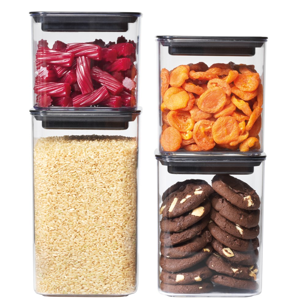 Scullery Lock Fresh 4 Piece Canister Set