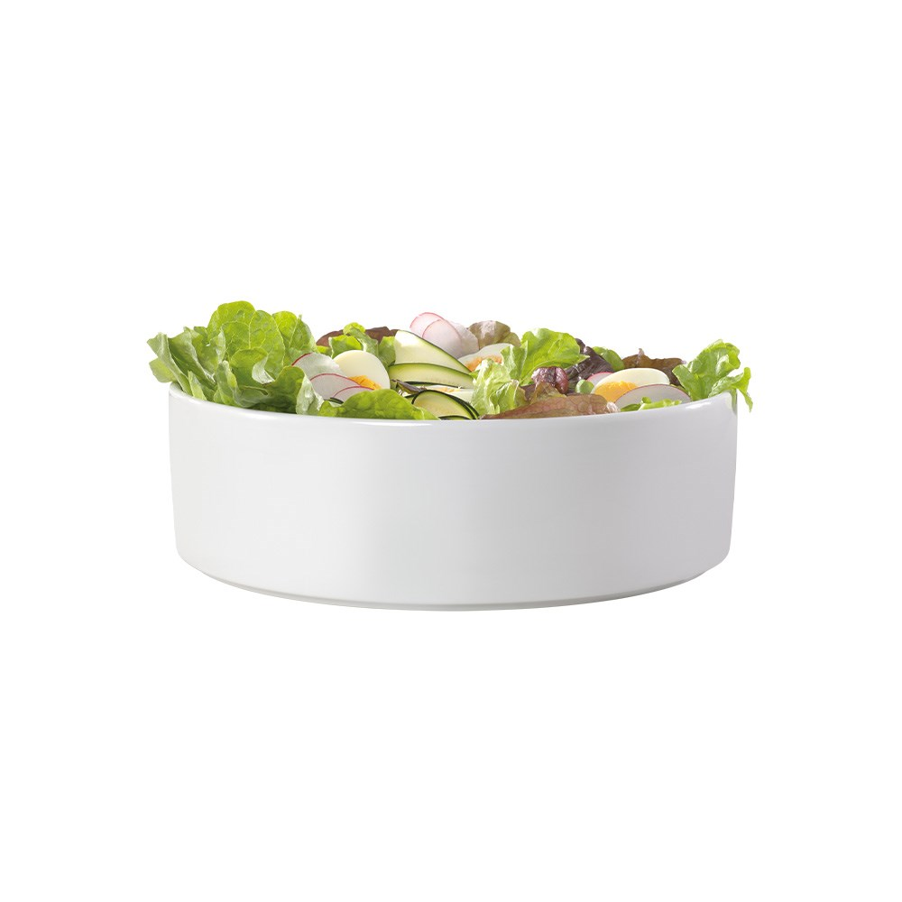 Ambrosia Zest Deep Salad Serving Bowl 32cm White