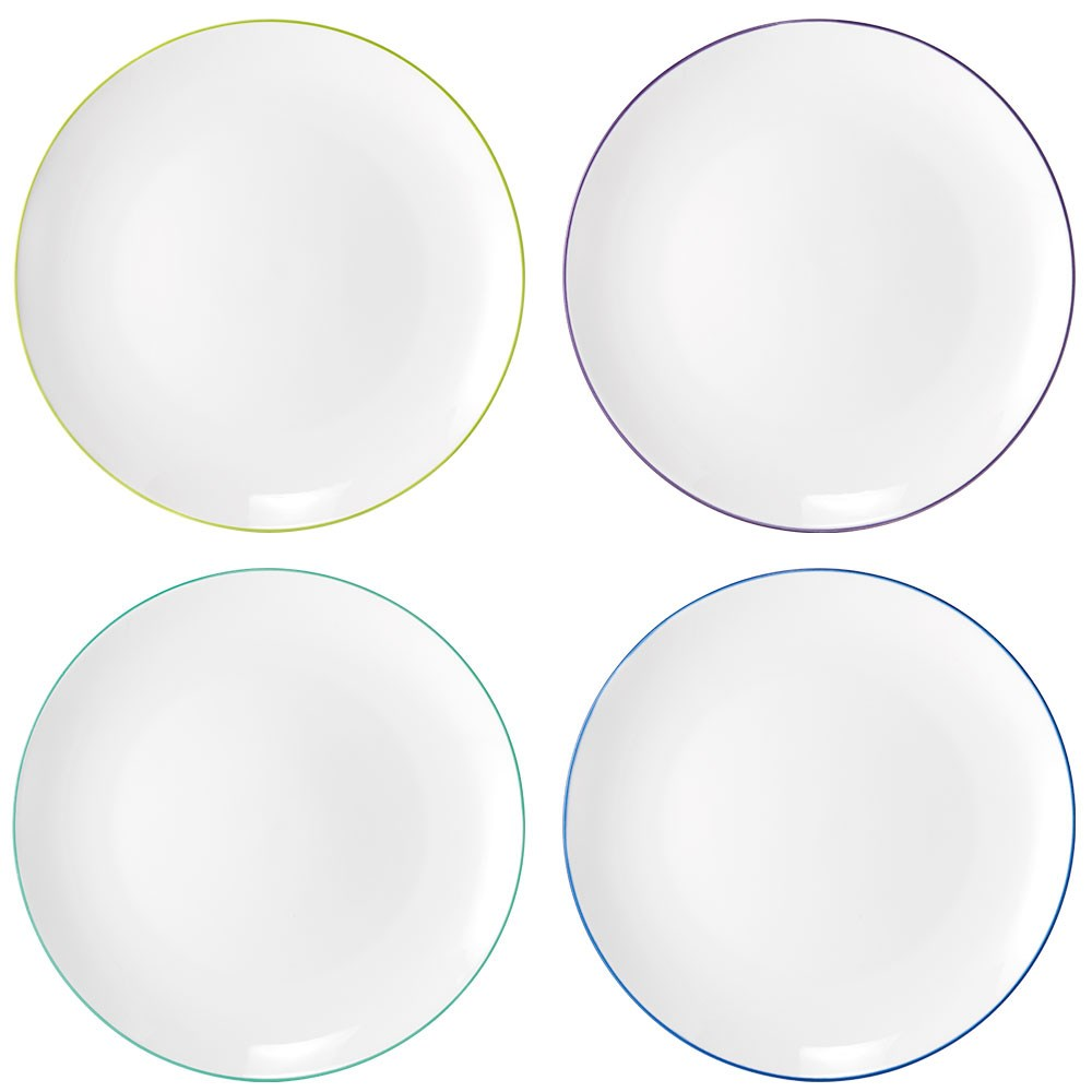 Ambrosia Prism Set of 4 Dinner Plate 26.5cm Cool