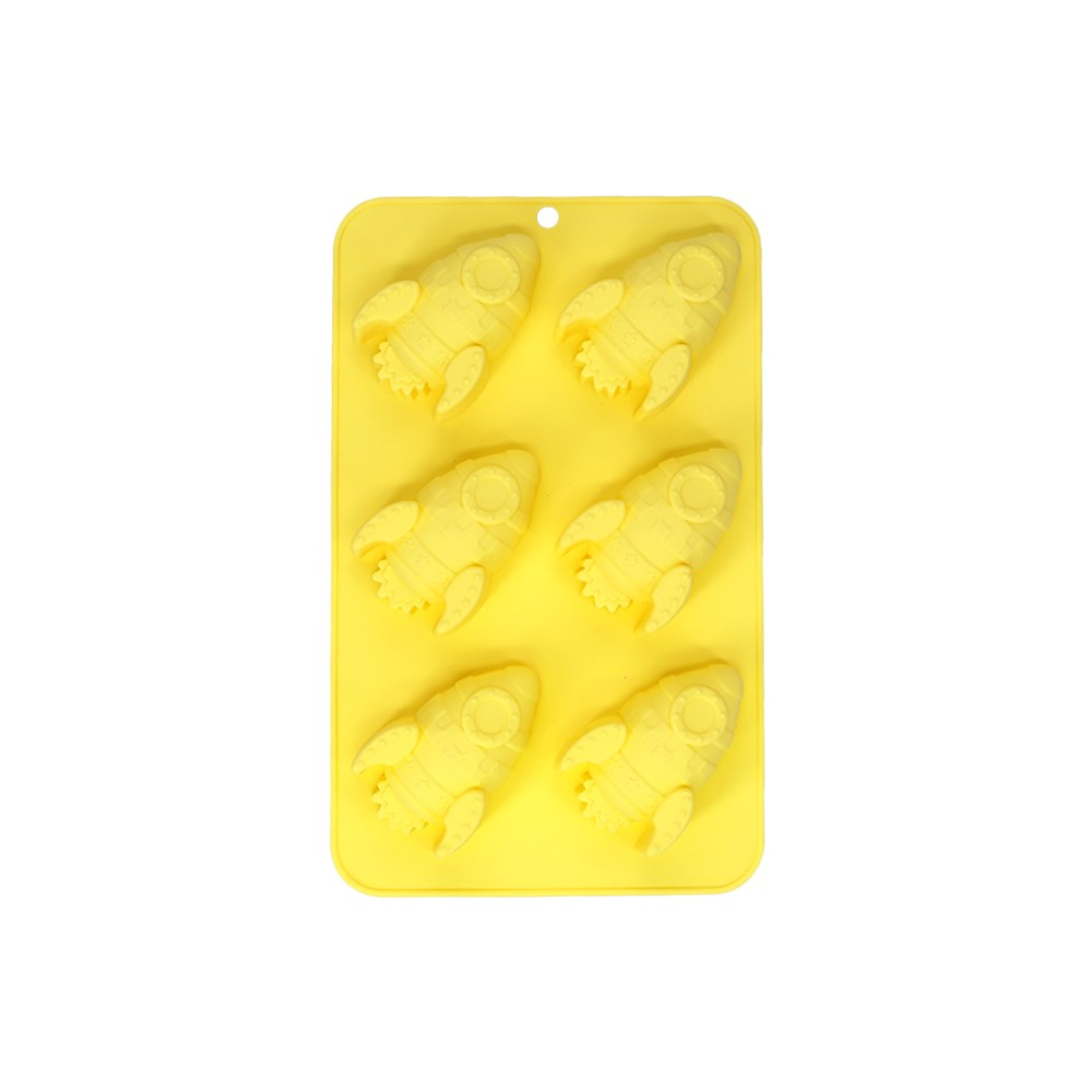 Soffritto Professional Bake Novelty Silicone 6 Cup Cake Pan Rocket