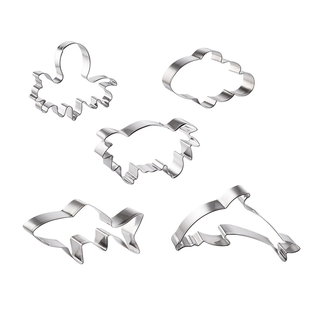 Soffritto Professional Bake Cookie Cutter Set of 5 Under the Sea