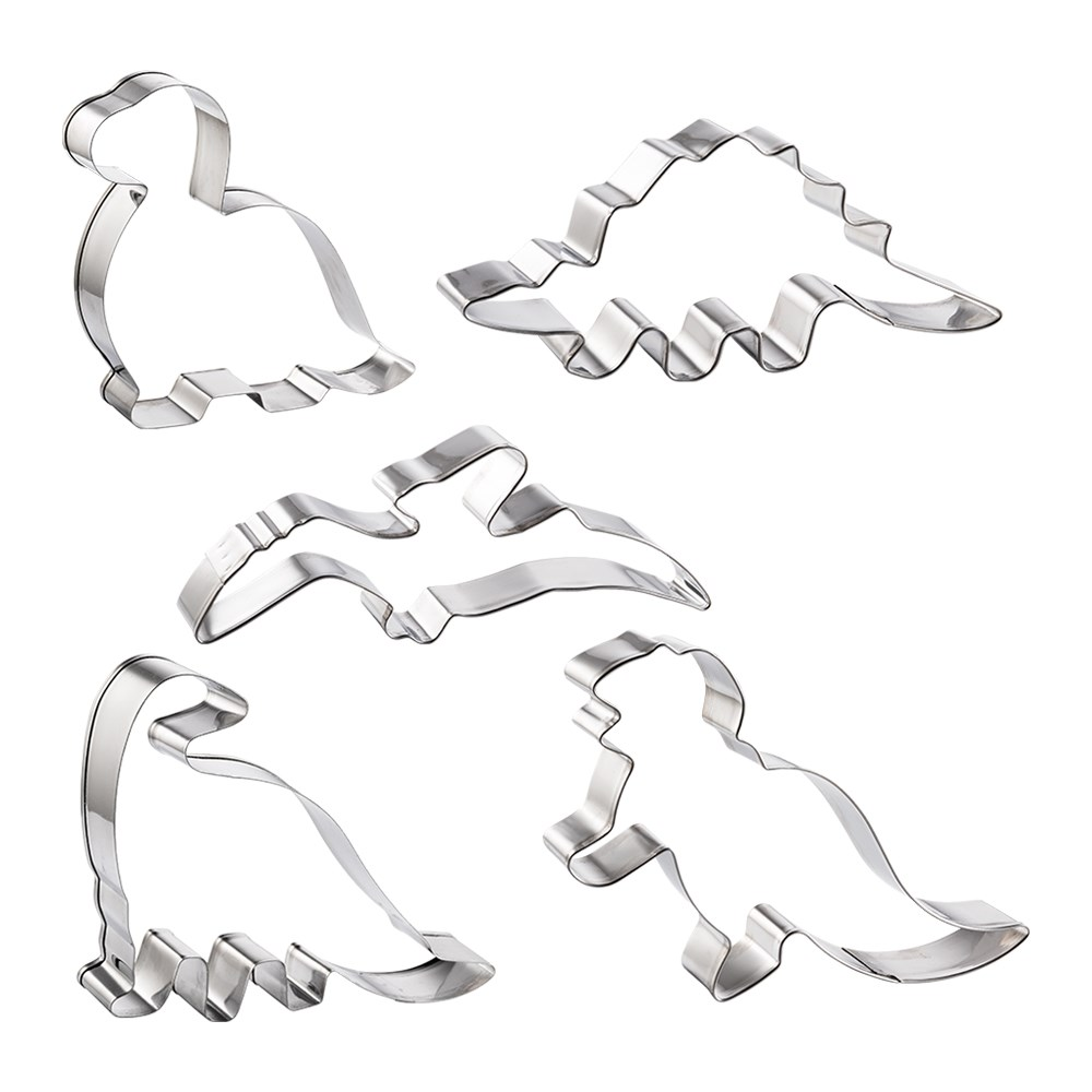 Soffritto Professional Bake Cookie Cutter Set of 5 Dinosaur