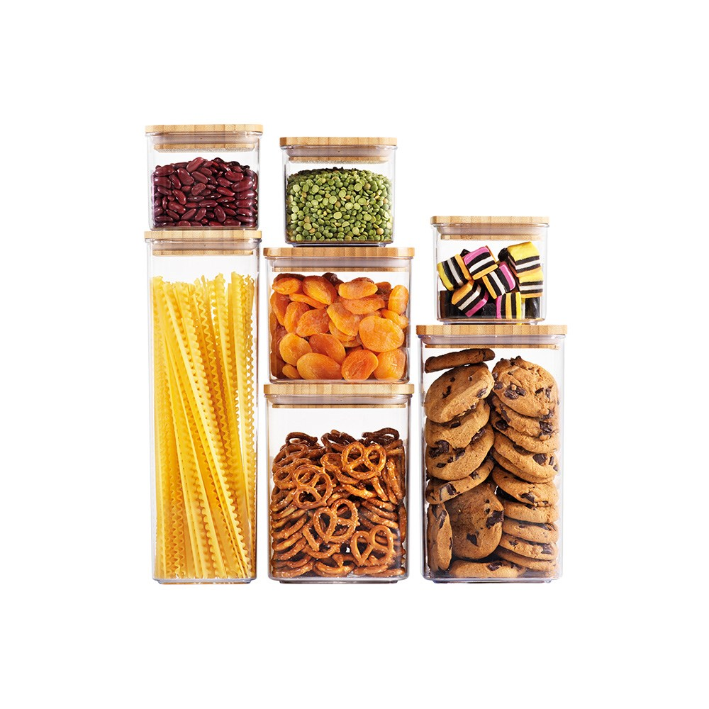 Scullery Bamboo 7 Piece Storage Canister Set