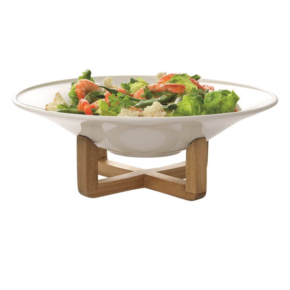 Ambrosia Zest Porcelain Bowl with Stand 34.5cm