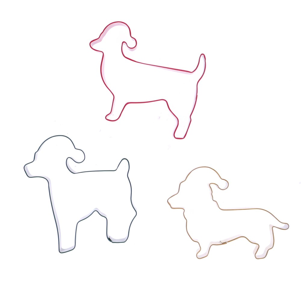 Soffritto Professional Bake Christmas Set of 3 Dog Cookie Cutters