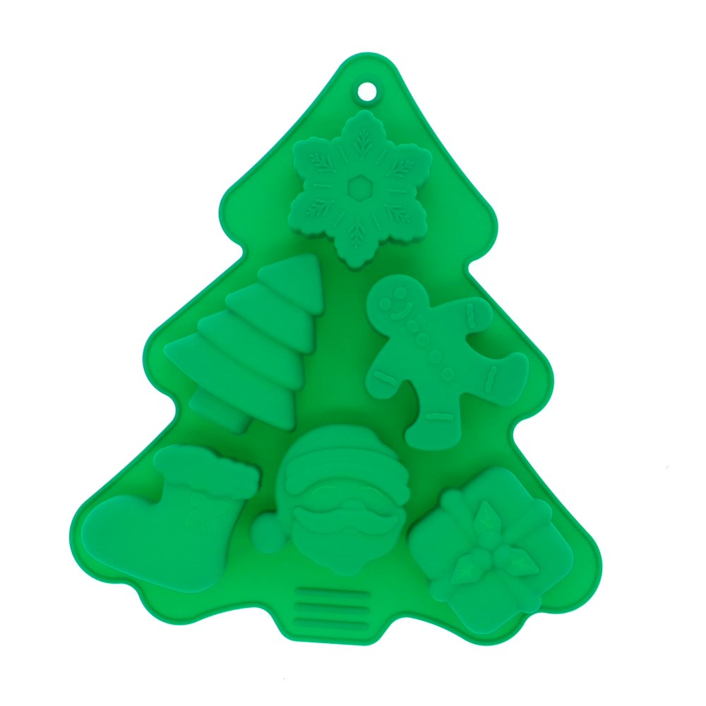Soffritto Professional Bake Silicone 6 Cup Xmas Moulds