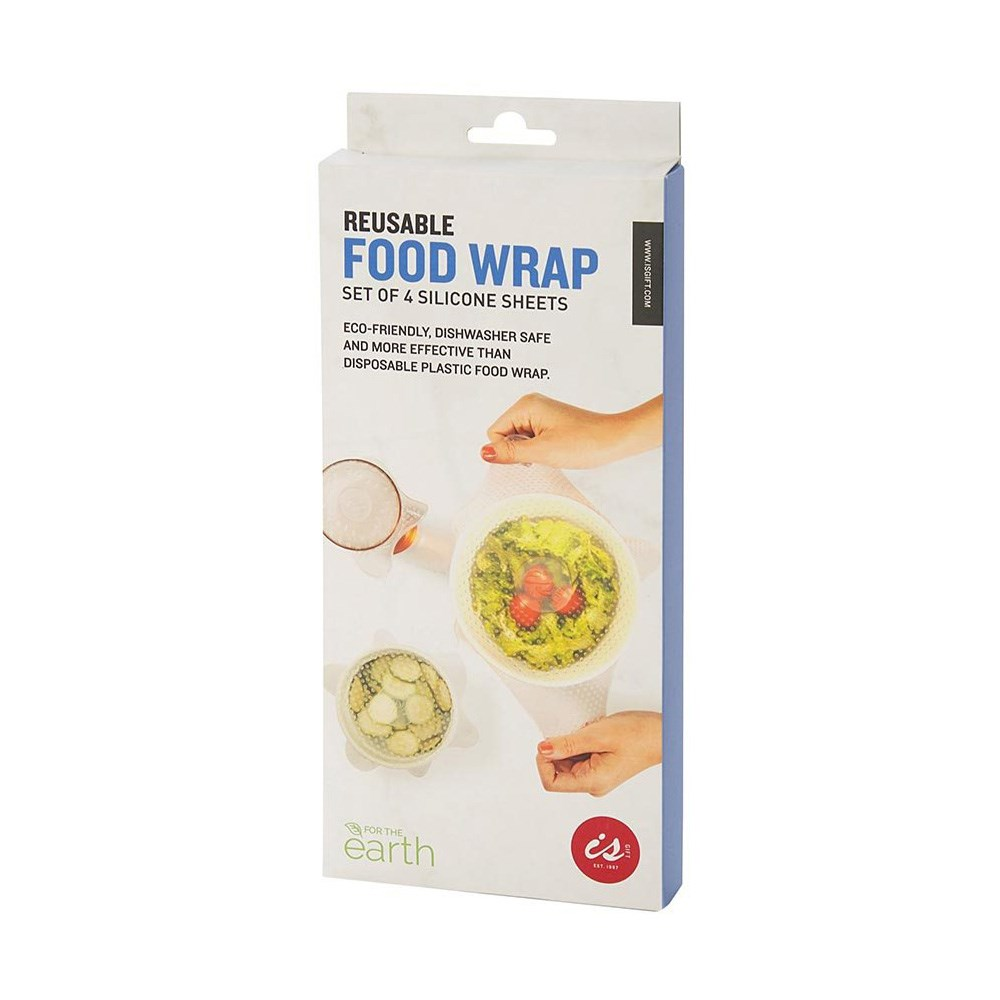 Is Gift Reusable Silicone Food Wraps Set of 4 Clear
