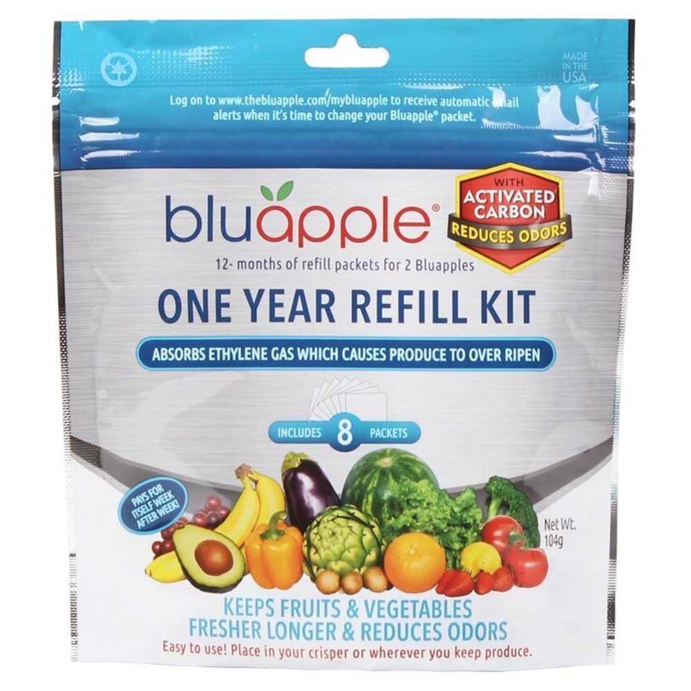Bluapple with Activated Carbon Refill Kit 8 Pack