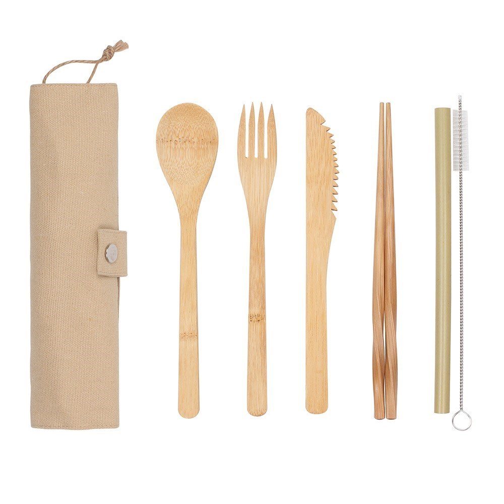 White Magic Eco Basics Reusable Bamboo Cutlery Set