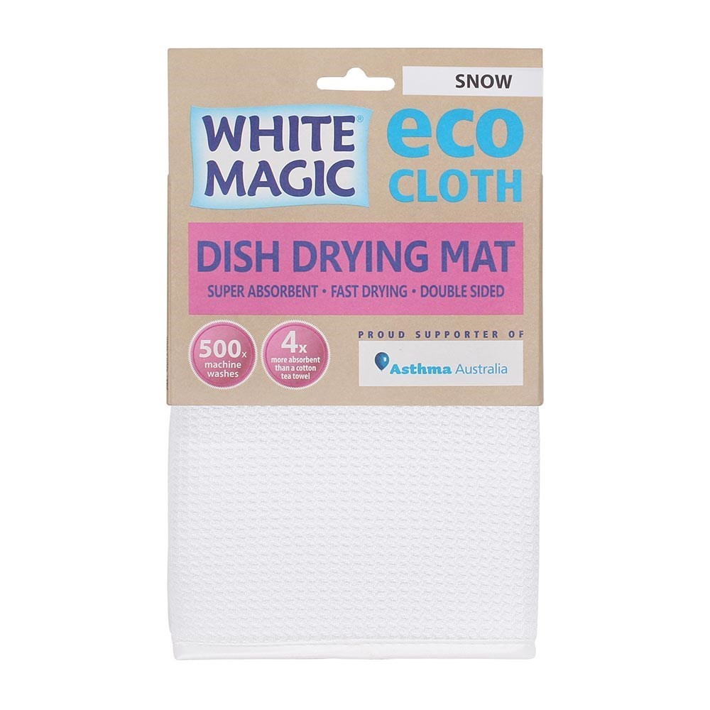 White Magic Eco Cloth Dish Drying Mat Snow White
