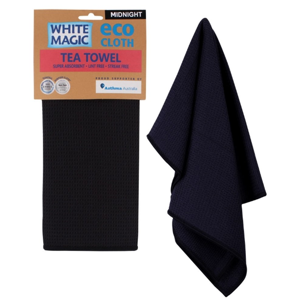 White Magic Tea Towel Midnight