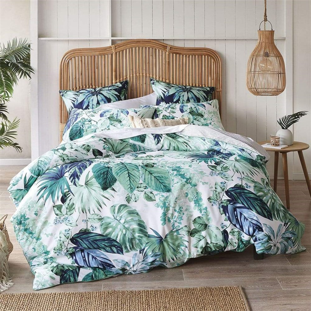 MyHouse Jane Queen Bed Quilt Cover Set Green