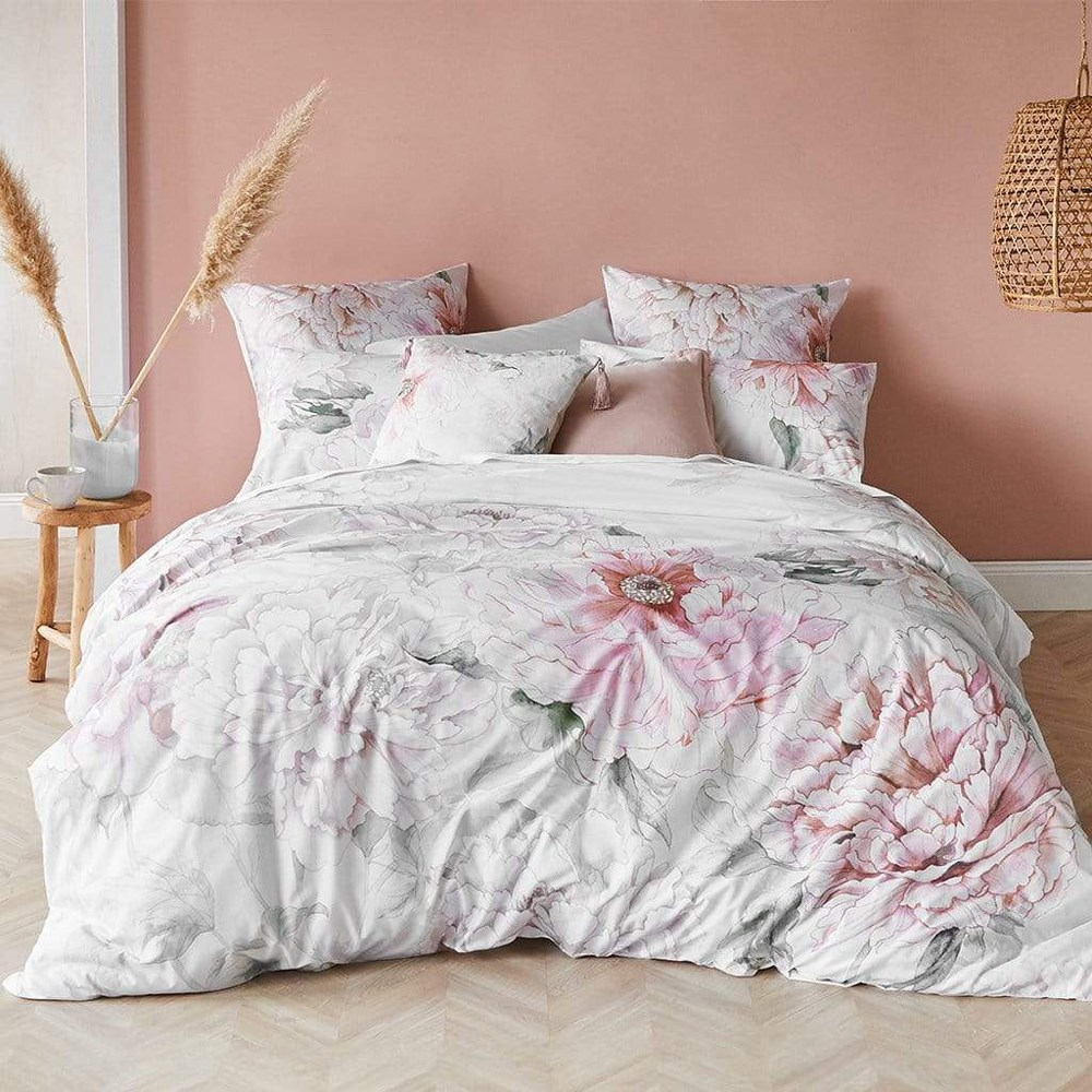 MyHouse Aurora King Bed Quilt Cover Set Pink
