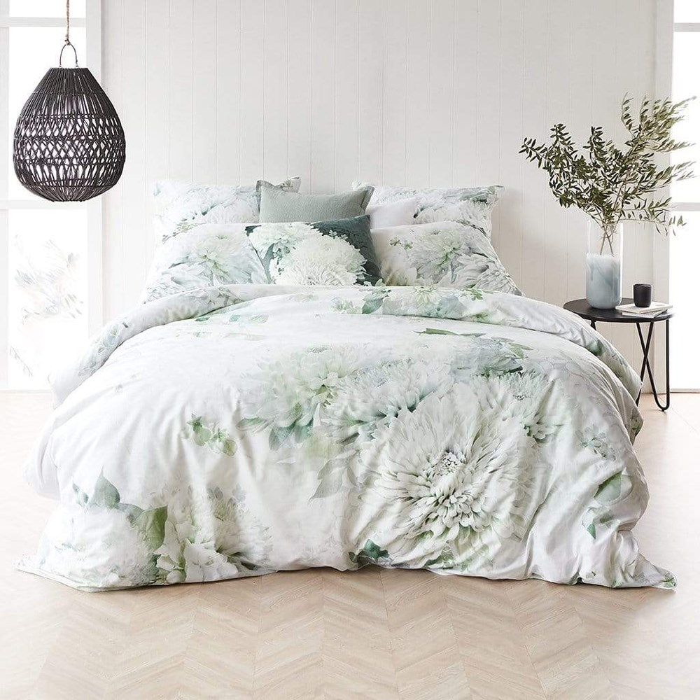 MyHouse Everleigh Super King Bed Quilt Cover Set Green