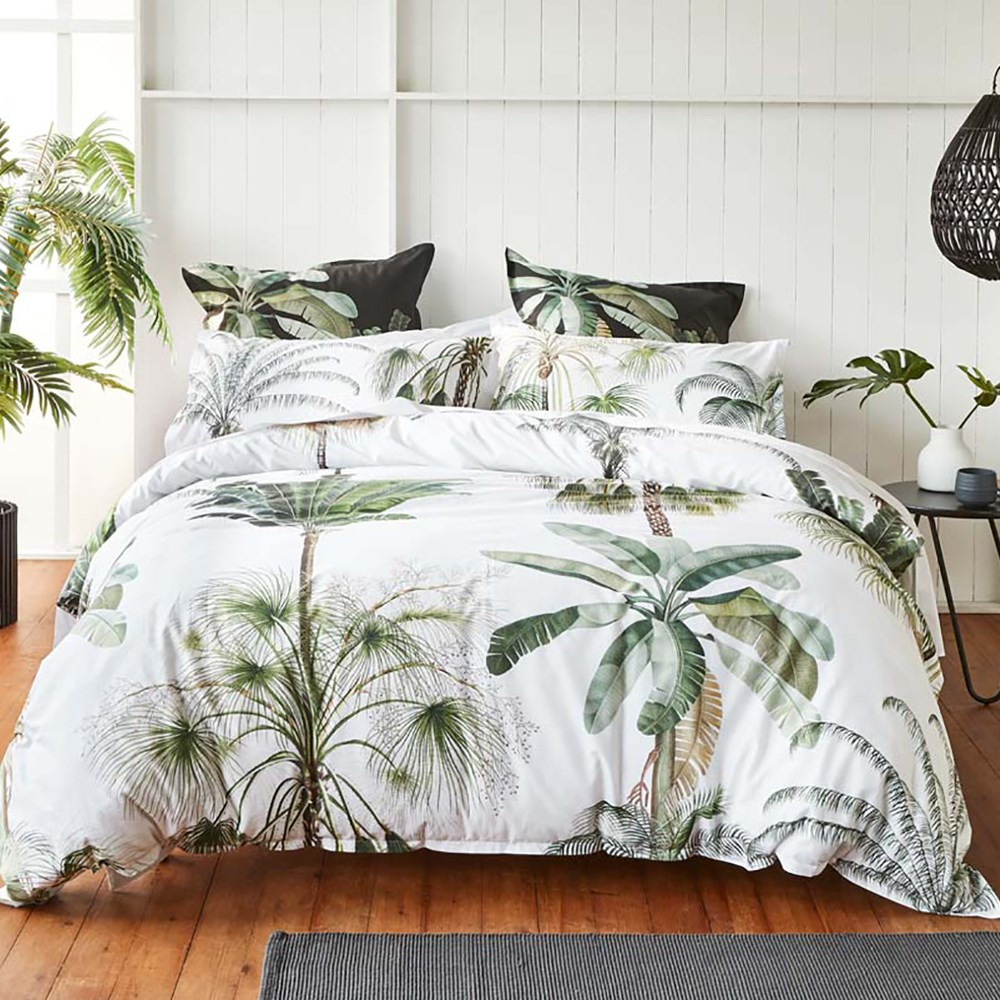 Coco White Quilt Cover Set Queen