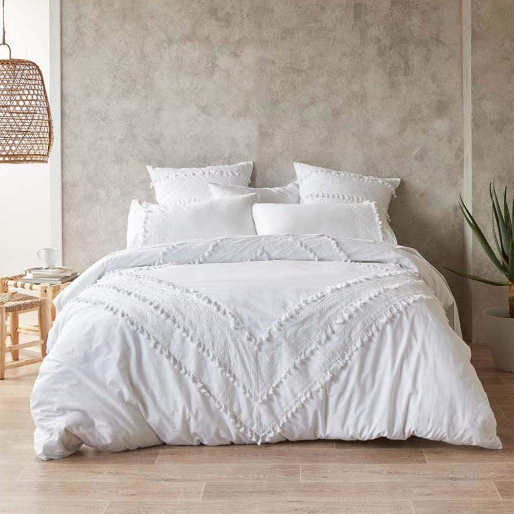 MyHouse Zephyr Quilt Cover Set Queen White
