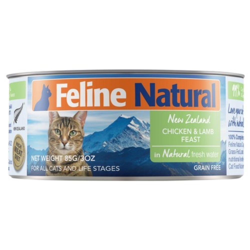 Feline Natural Canned Chicken & Lamb Cat Food 24x85g
