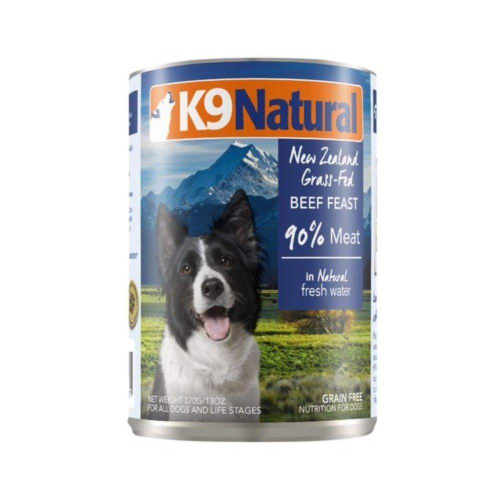 K9 Natural Canned Beef Feast Dog Food 12x370g