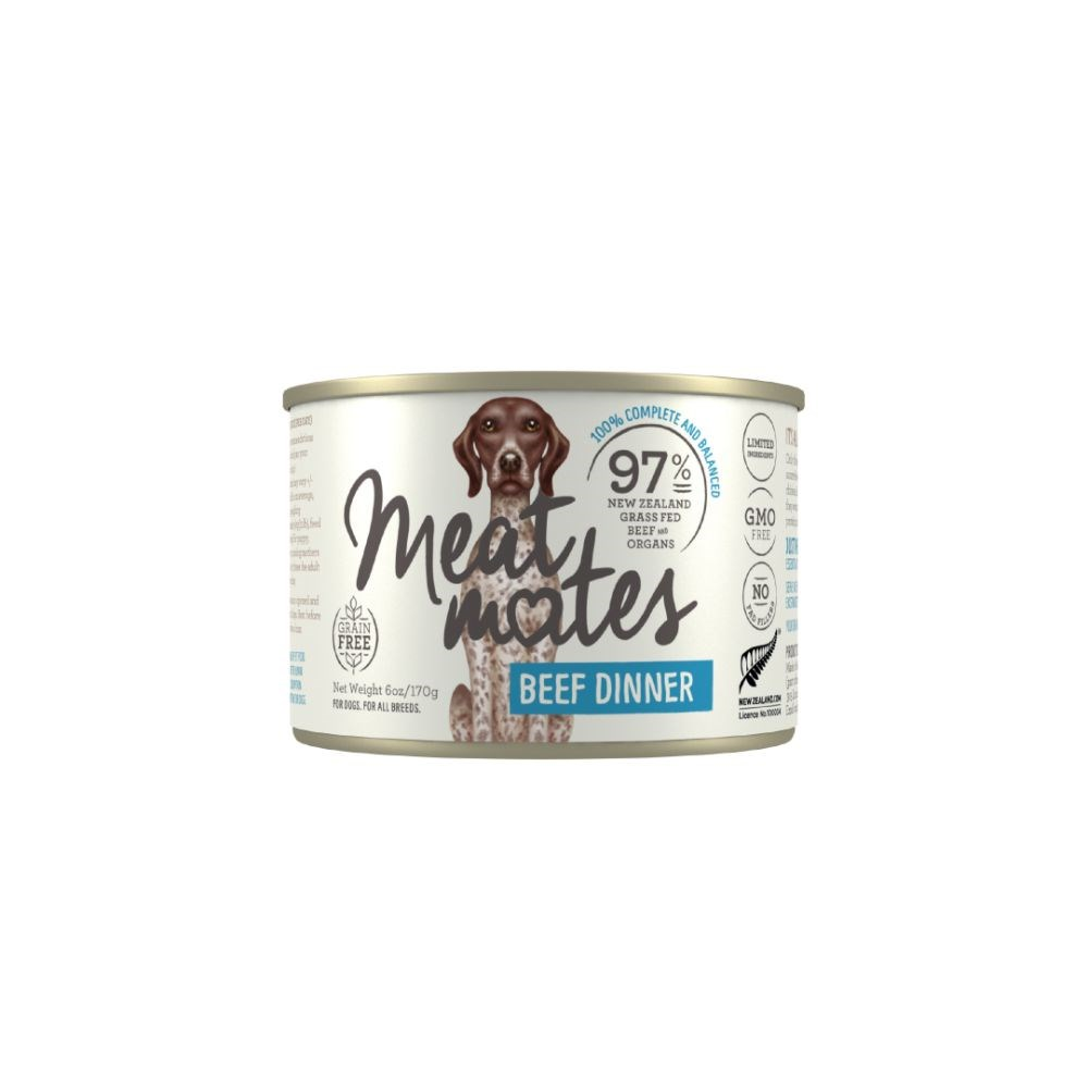 Meat Mates Beef Dinner Dog Food 24x170g