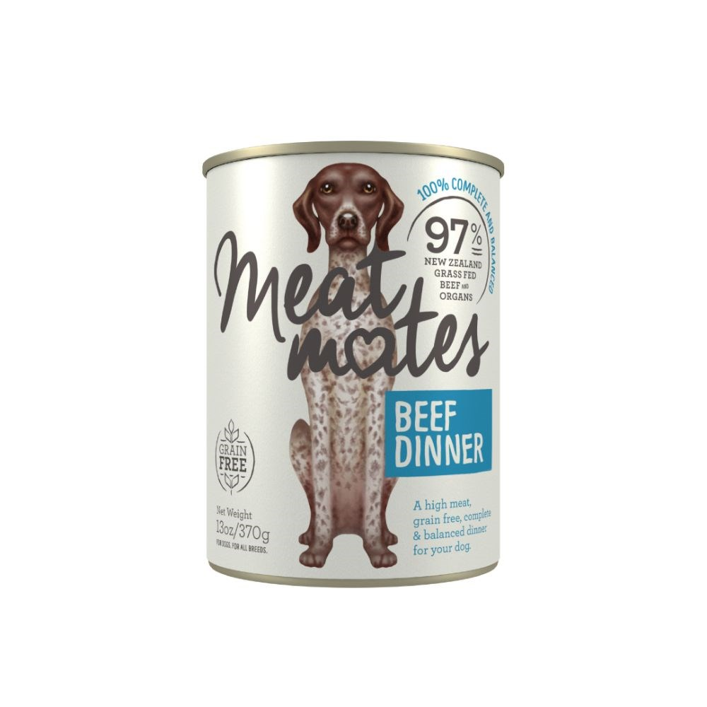 Meat Mates Beef Dinner Dog Food 12x370g