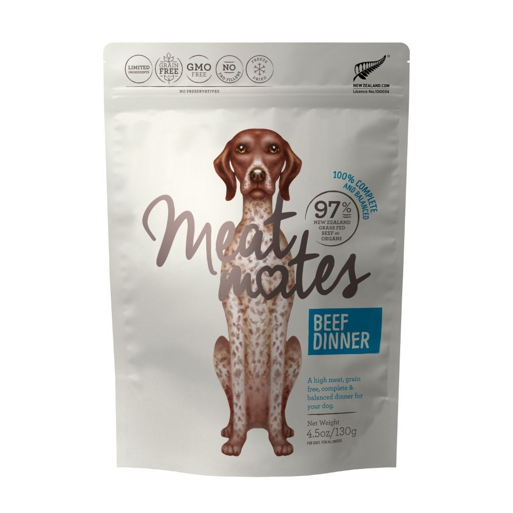 Meat Mates Dog Food Beef Dinner 130g