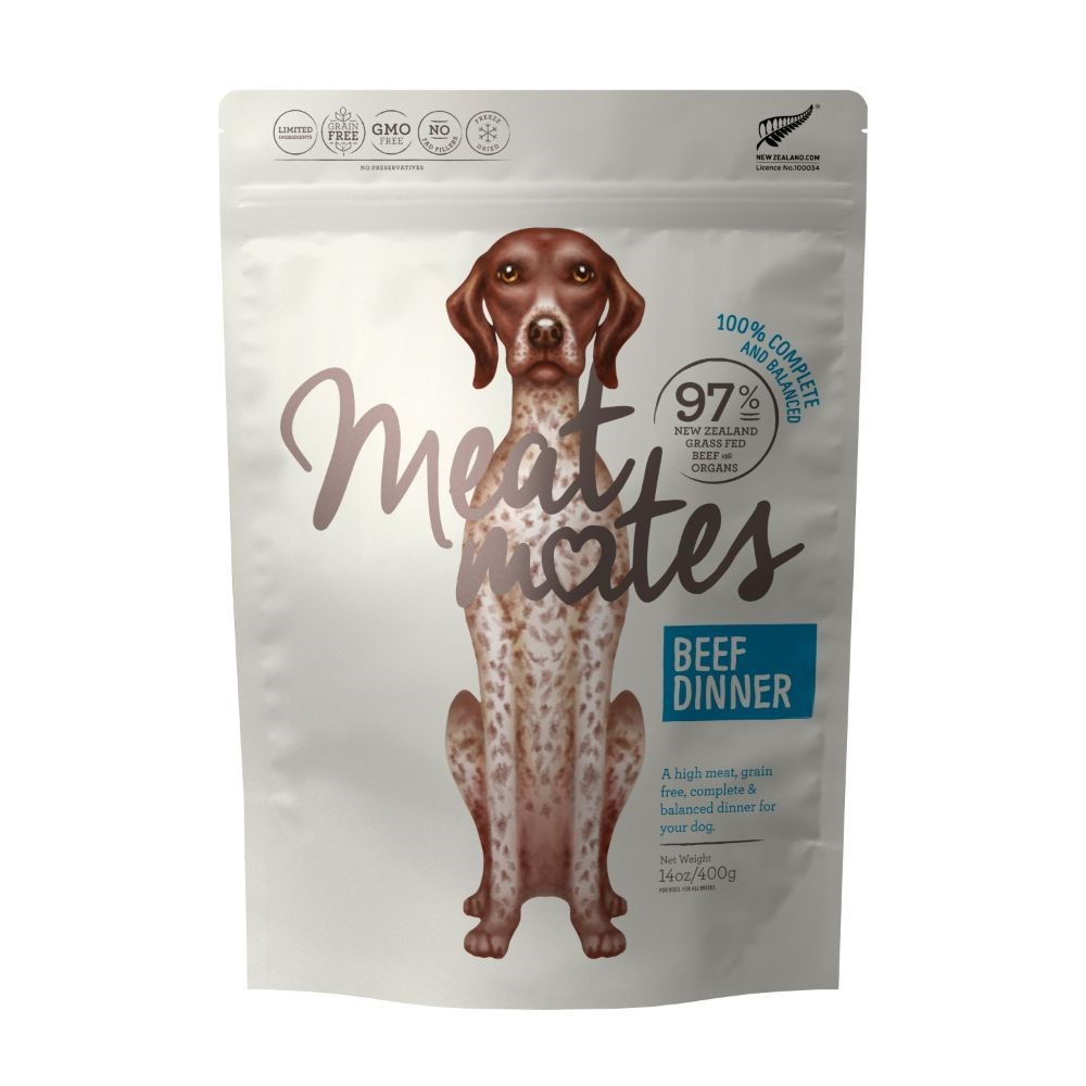 Meat Mates Dog Food Beef Dinner 400g
