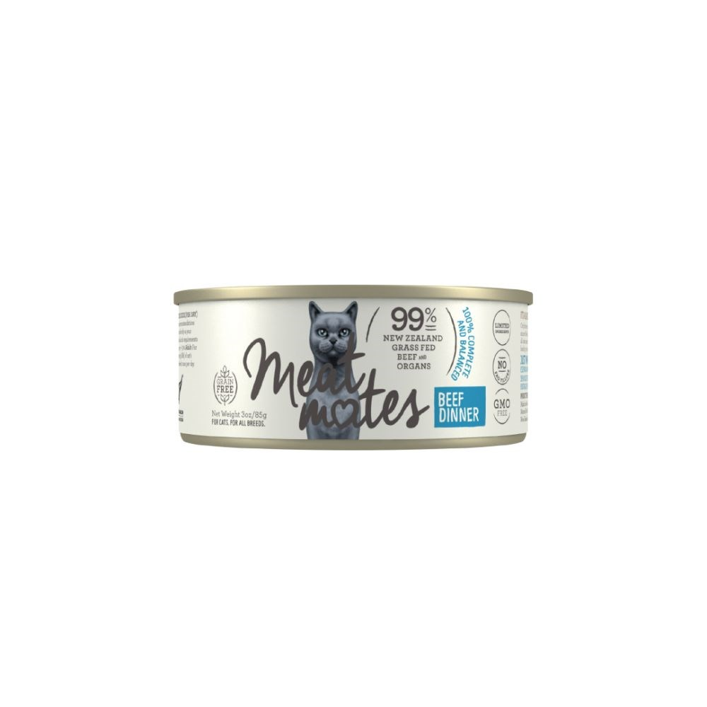 Meat Mates Beef Dinner Cat Food 24x85g