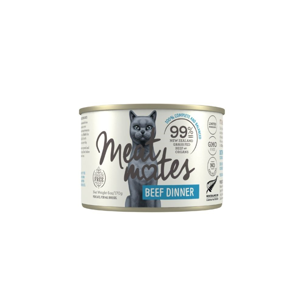 Meat Mates Beef Dinner Cat Food 24x170g