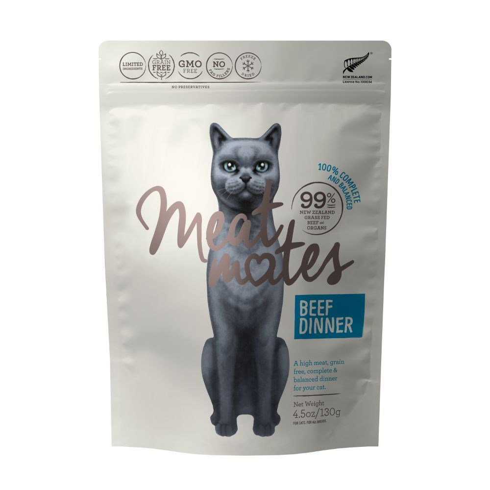 Meat Mates Cat Food Beef Dinner 130g