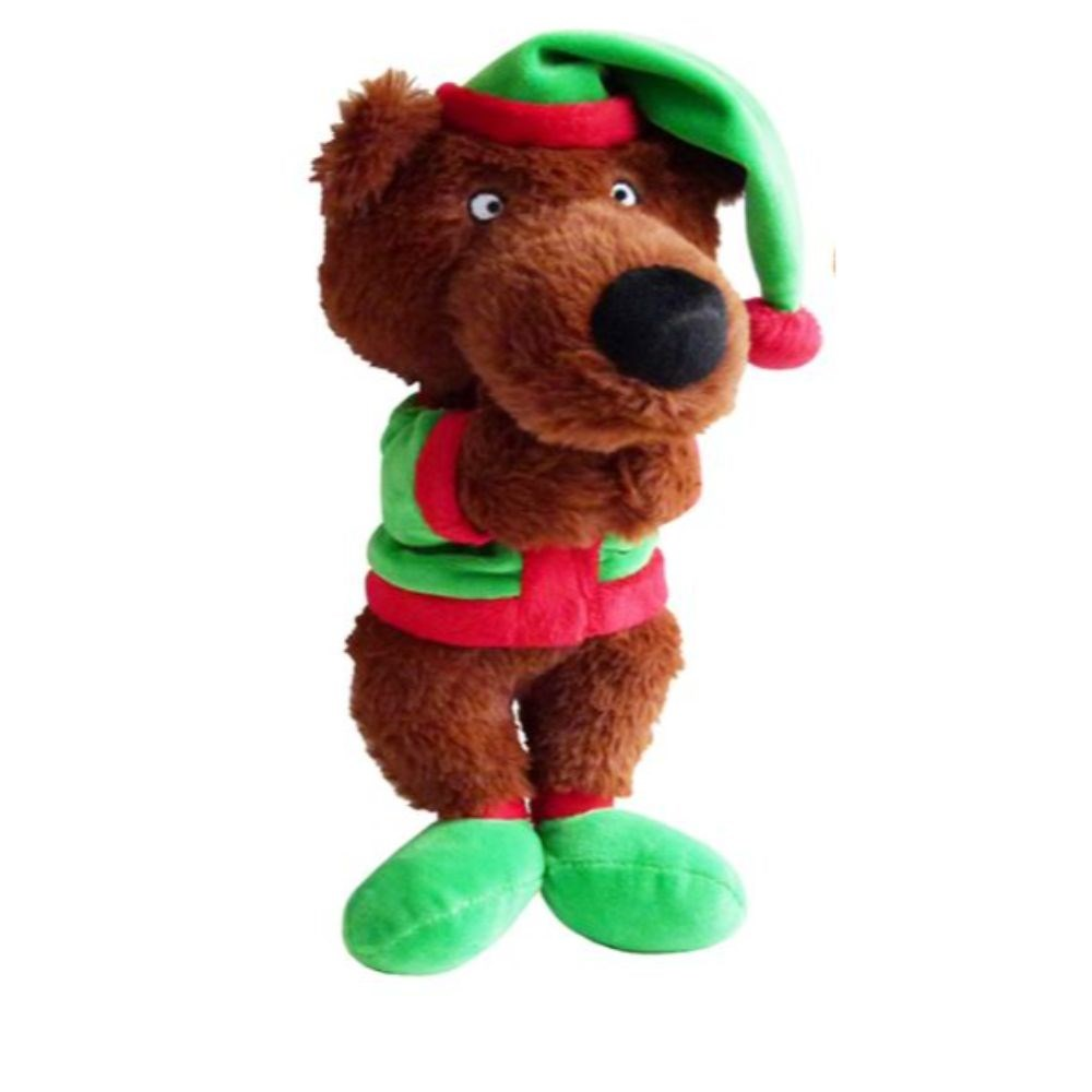 K9 Homes Christmas Plush Bear Dog Toy
