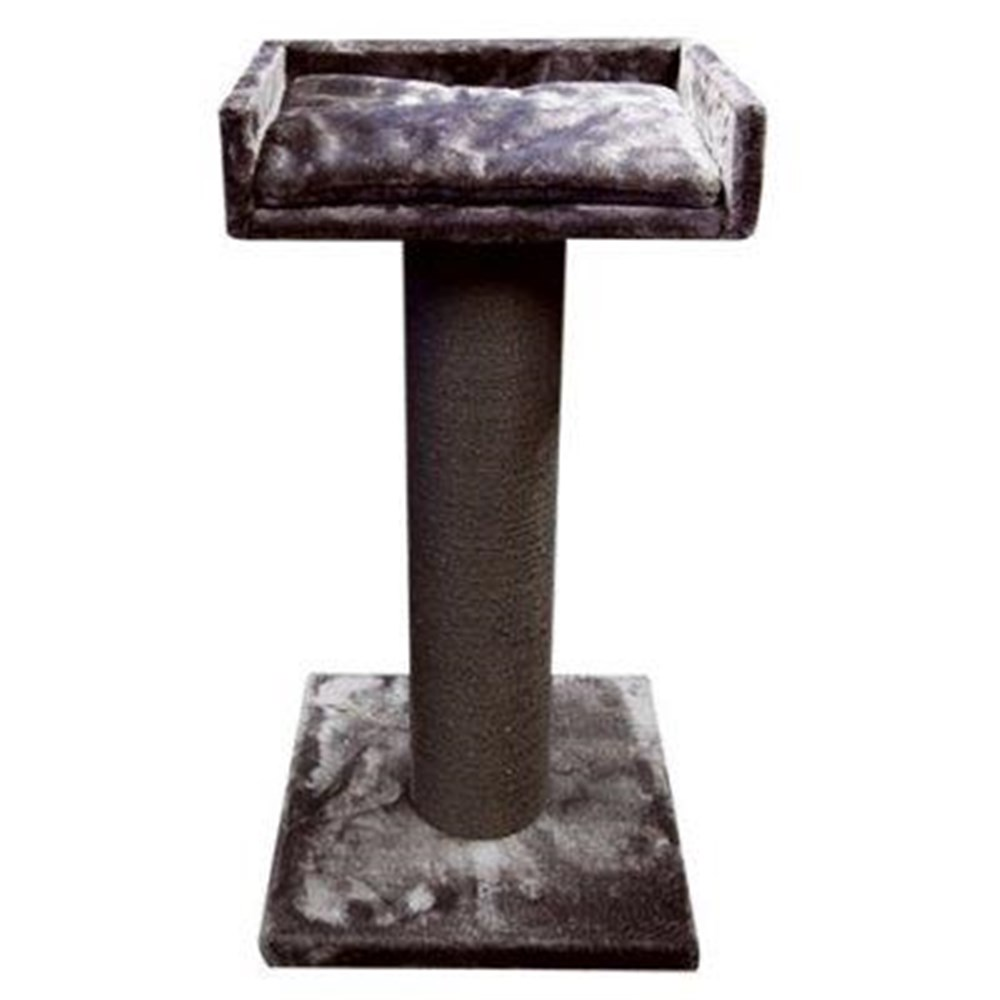 Pet One Cat Scratching Tree Post With Bed Grey 98cm
