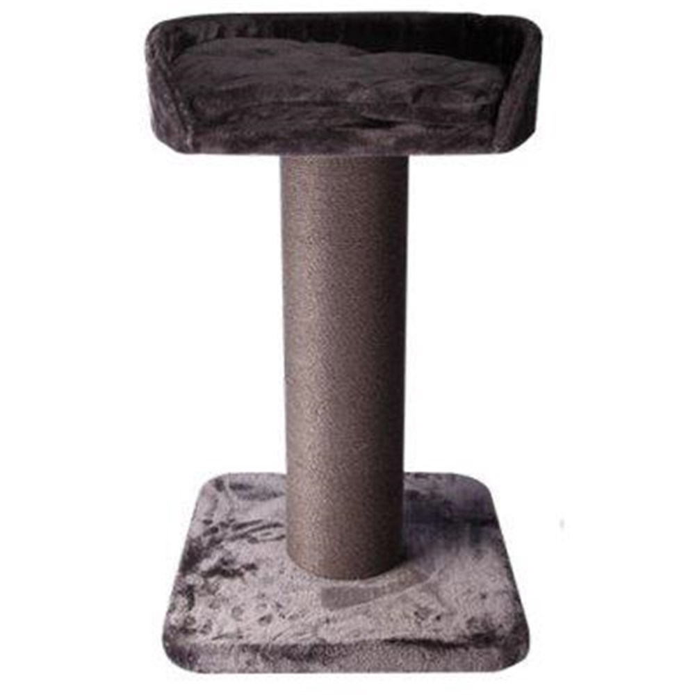 Pet One Cat Scratching Tree Post With Bed Grey 85cm