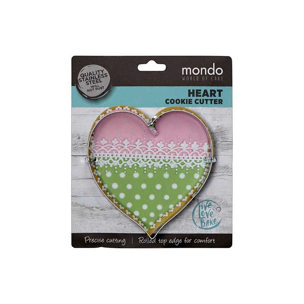 Mondo Stainless Steel Heart Cookie Cutter