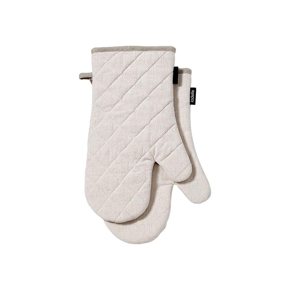 Ladelle Eco Recycled 2pk Oven Mitt Natural
