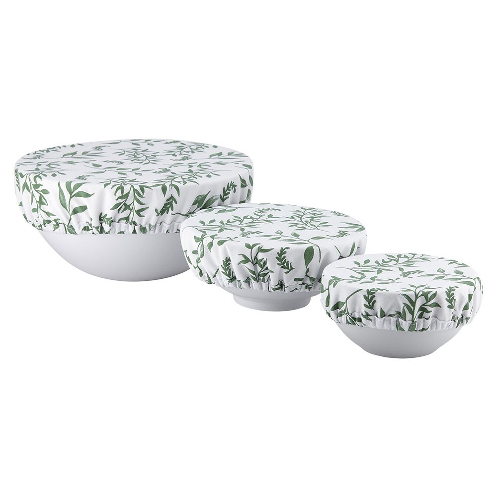 Ladelle Grown Ivy 3 Piece Cotton Stretch Bowl Covers
