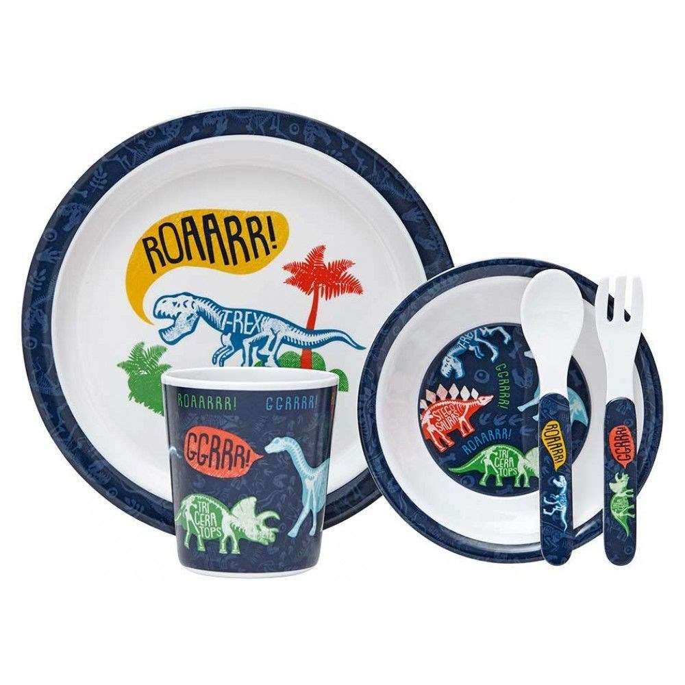 Ashdene Dinoroar 5 Piece Kids Dinner Set