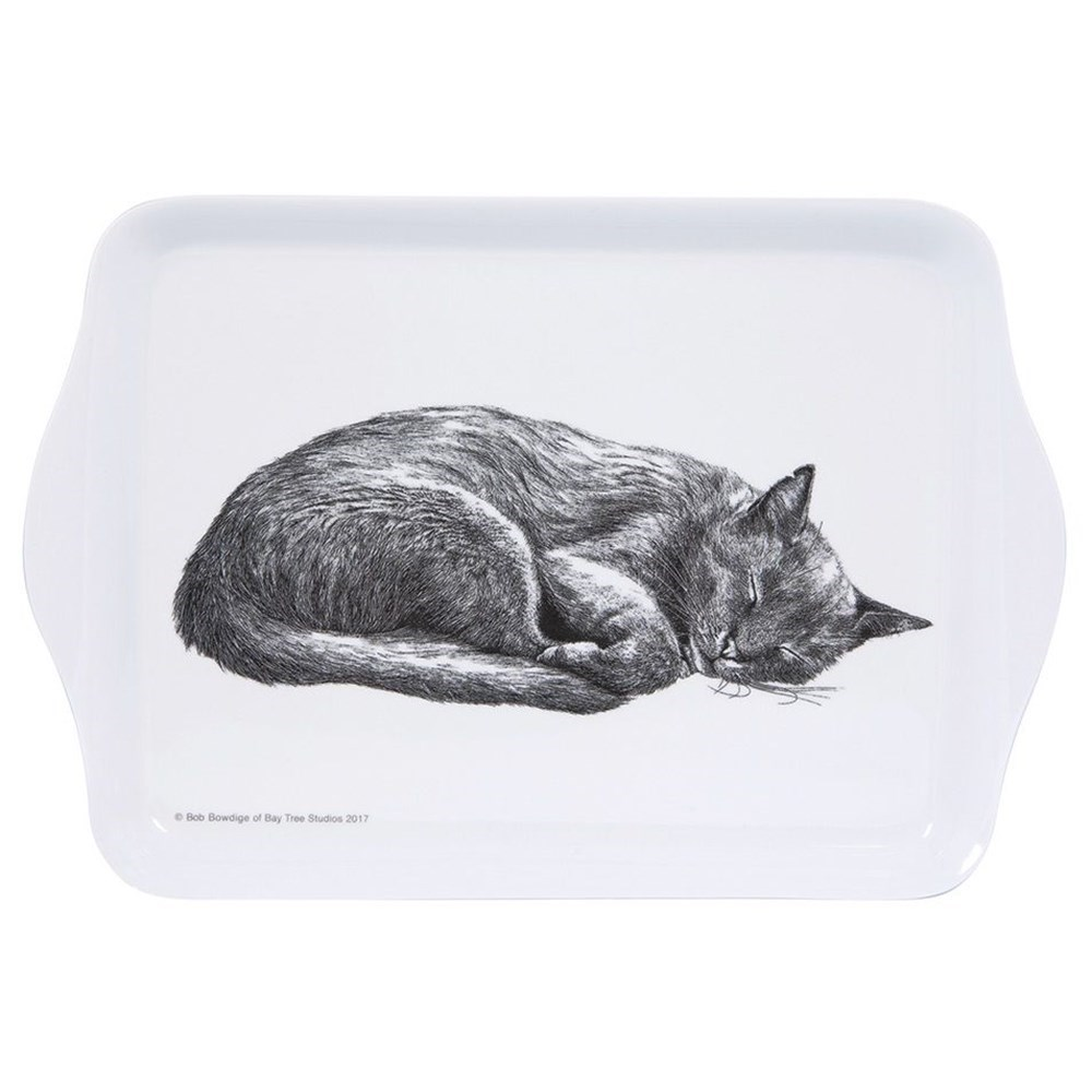 Ashdene Casual Cats Collection Sleeping Cat Scatter Serving Tray
