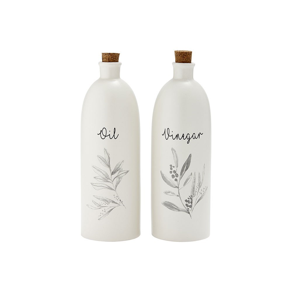 Ladelle Grown Stoneware Oil & Vinegar Bottle Set 350ml