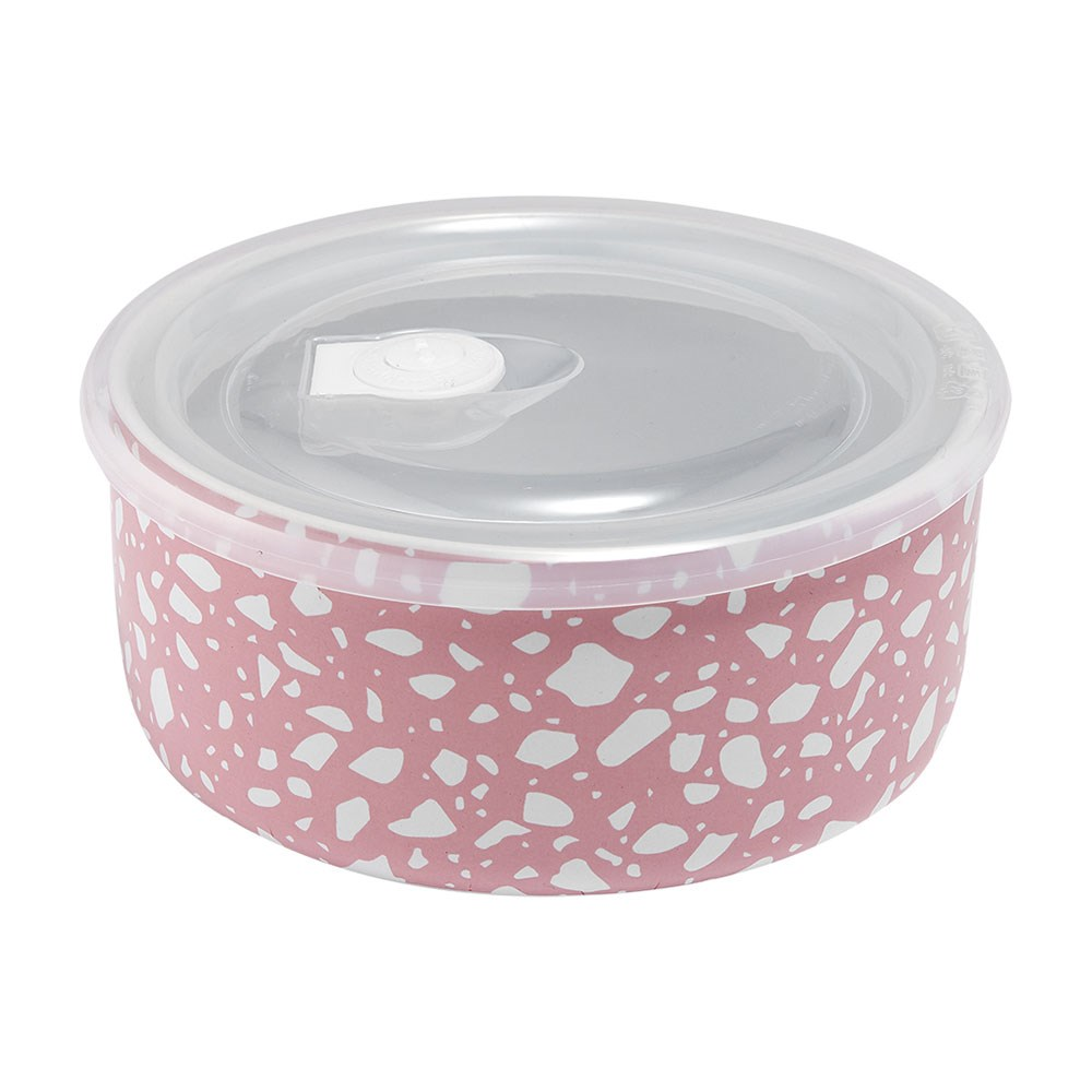 Ladelle Abode Pink Terrazzo Microwave Food Bowl 16cm