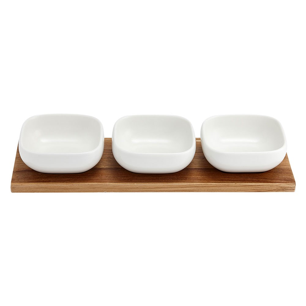 Ladelle Essentials Porcelain 4 Piece Bowl Set White