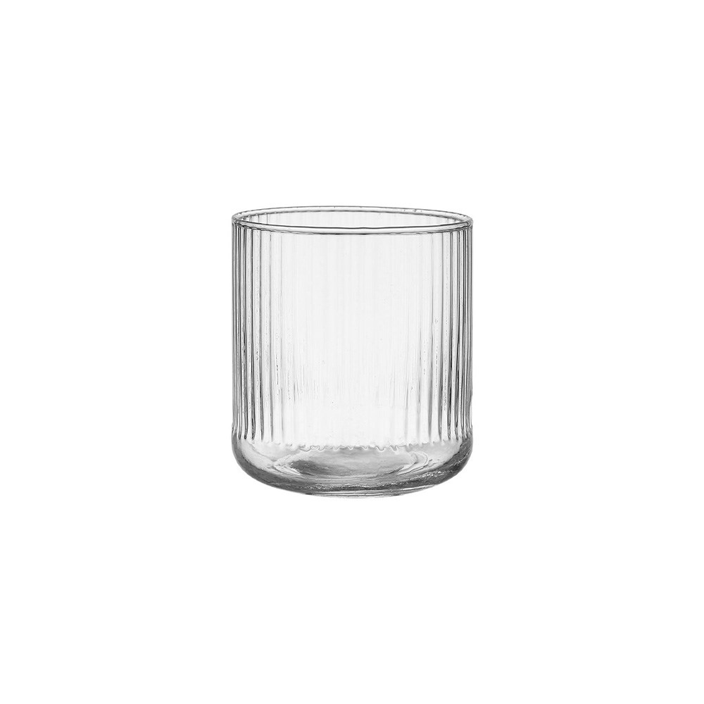 Ladelle Zephyr Ribbed Glass Tumbler 600ml Clear