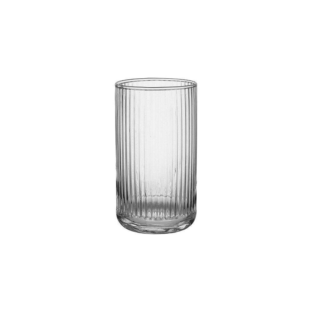 Ladelle Zephyr Ribbed Highball Glass 700ml Clear